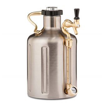 Growler stainless steel 3.8 l double wall pressure drum