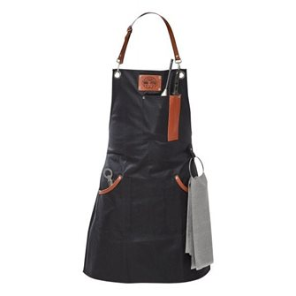 Apron waxed fabric and leather ideal for all the kings of the barbecue