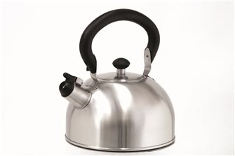 Stainless steel whistling kettle 1.5 liter induction with folding handle