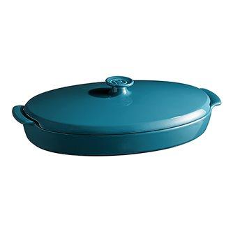 Ceramic papillote dish - blue Calanque