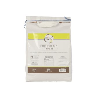 Wheat flour current use T65 sustainable agriculture Tarn per 5 Kg