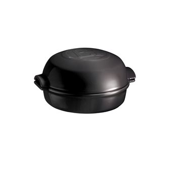 Anthracite ceramic oven roast cheese dish Charcoal Emile Henry