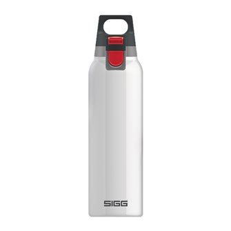 Thermos flask stainless steel handle 0.5 liter with Hot & Cold One White Sigg infuser