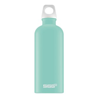 Glacier blue aluminum bottle 0.6 l light reusable Lucid Glacier Touch Sigg