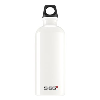0.6 l light white aluminum bottle reusable Traveler White Sigg
