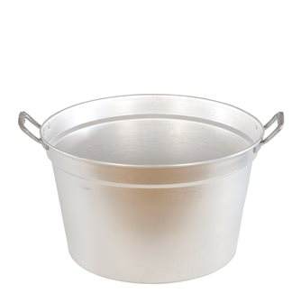 Pot flared 80 cm 160 liters cauldron with aluminum handles with lid