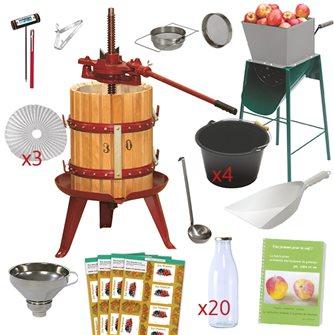 Essential apple juice kit with press 30 cm