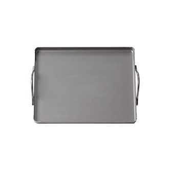Rectangular steel plate 20x25 cm with handles all fire oven and barbecue