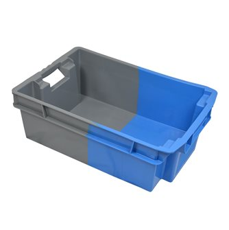 Blue and Grey Nestable and Stackable Tray