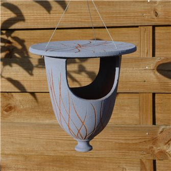 Feeder urn for sky blue birds