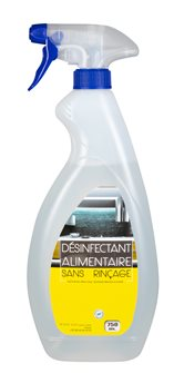 Virucidal disinfectant without rinsing spray 750 ml suitable for food contact