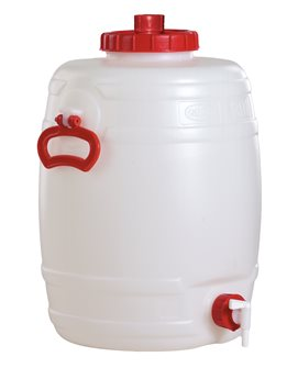 Cylindrical food grade keg - 30 litres