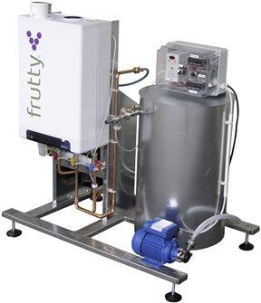 Gas juice pasteurizer 250 l/hour with pump